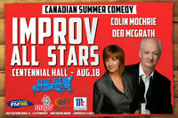 Colin Mochrie and Deb McGrath in London August 18th