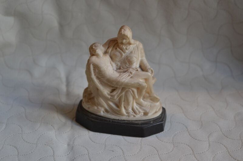 Antique Statue Figure Pieta Michelangelo Virgin Mary Jesus