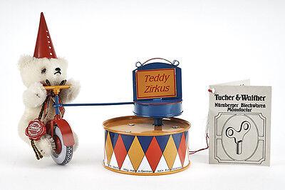 Lot 170403 Tucher u. Walther T 309 Spieluhr Clown-Bär mit Hermann Teddy - RARE