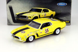 1/18 DIECAST  Welly # 12527 Ford Mustang Boss 302