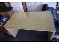 Ikea Malm Desk with Glass Top