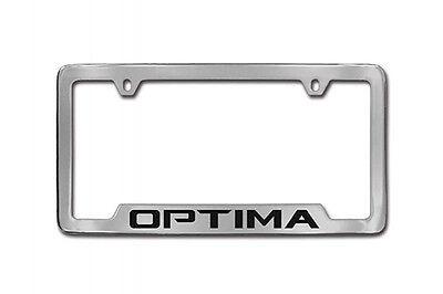 License Plate Frame Holder (OEM Genuine Kia Optima LOGO CHROME LICENSE PLATE FRAME holder 2019 2018 2017)
