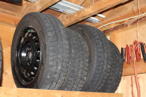 4 Winter Tires and Rims 195/65 R 15