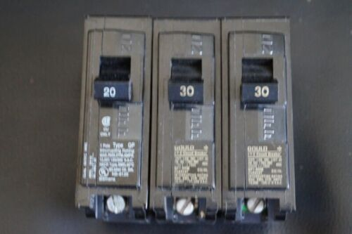 LOT of 3 Circuit Breakers Siemens Gould ITE Single Pole 20 & 30 (x2) Amp 20A 30A