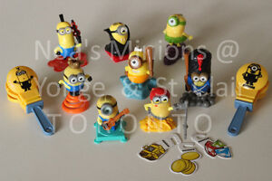 Full Set Kinder Surprise MINIONS (great cake toppers!)