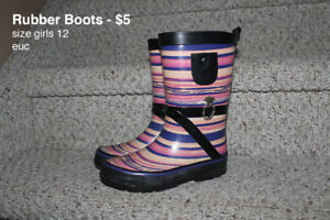 Rubber Boots - girls size 11 & 12