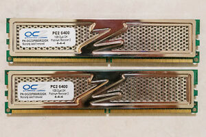 OCZ Platinum Rev.2 2GB (2x1GB PC2-6400) RAM Dual Channel Kit