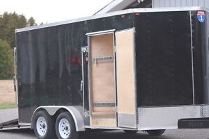 2015 Interstate Tandem Axle V Nose Cargo Trailer