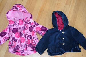 Manteaux printemps-automne pour fille 6-12 mois