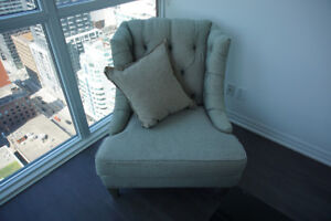 BARELY USED DESIGNER CHAIRS (x2) FOR SALE