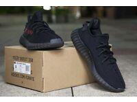Adidas Yeezy 350 V2 Black Red 'Bred' (Sizes 3.5, 5, 6, 6.5, 7.5, 8, 8.5, 9, 9.5, 10.5, 11)