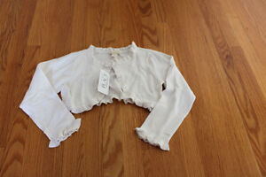 NWT The Children's Place Off White Shrug  24 months and 3T