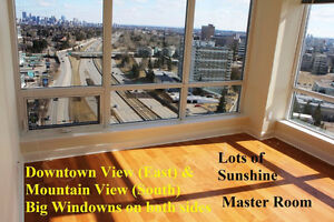 University City 2bed2 bath High Floor corner unit Downtown View
