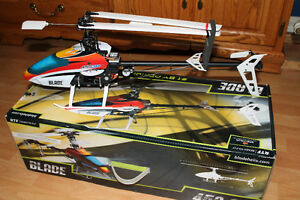 Pair of Blade 450 3D RC Helicopters