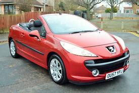 Peugeot 207 CC 1.6 16v Auto Sport, 85K MILES, 2 OWNER, NOVEMBER MOT