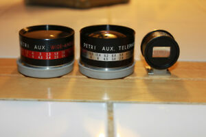 Petri Aux Wide Angle & Telephoto Lens Kit for Petri Rangefinder