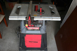 "Craftsman 10"" Table Saw with Stand Model 137.248850"