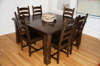 Gorgeous Kuda Dining Set - 8 chairs - 5' square table