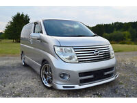 FRESH IMPORT 54 PLATE FACE LIFT NISSAN ELGRAND HIGHWAY STAR V6 AUCTION GRADE 4