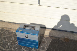 2 PLASTIC TIERED FISHING TACKLE BOXES - CLEAN $15 EACH