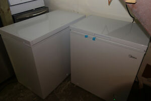 WHITE CHEST DEEP FREEZERS 7-13 cu ft USED AND NEW + WARRANTY!