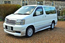 Nissan Elgrand, 3.0L Petrol 1999/2009 import, 7 Seater, 37K MILES,1 OWNER