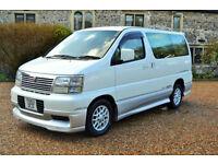 Nissan Elgrand, 3.0L Petrol 1999/2009 importe, 7 Seater, 37K MILES,1 OWNER