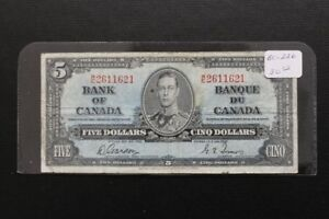 Canada 1937 $5 Bank Note