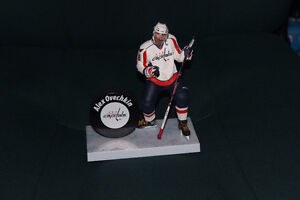 Alex Ovechkin figure stand with puck and stick