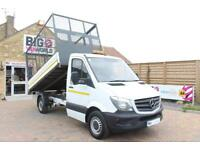 "2016 MERCEDES SPRINTER 314 CDI 140 MWB 10.5 FT ""ONE STOP"" ALLOY TIPPER WITH CAGE"