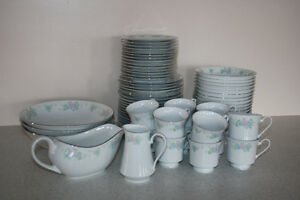 Prestige China Garden Floral Design Dishes 69 Pieces