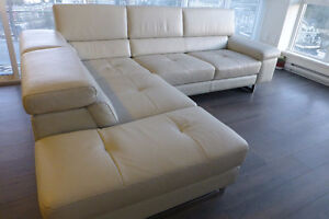 ScanDesigns leather sectional one year old