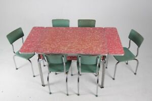 1950's Formica and Chrome Table and 6 Chairs