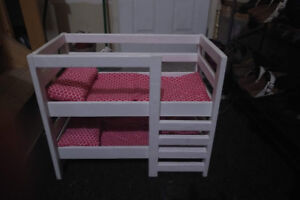 18 inch Doll Wardrobe and Bunk Bed