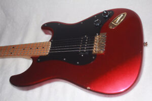 electric guitar with hard MAPLE neck & fingerboard