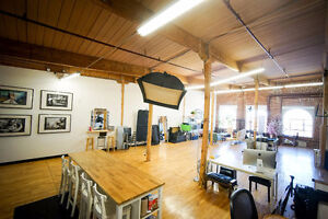 Beautiful commercial studio space for creatives