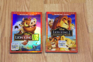Used Lion King 1 1/2 & Lion King 2 Blu-ray & DVD Combo Pack