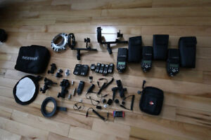 Canon 70D  + 50 1.8 + load of lighting accessories softbox etc