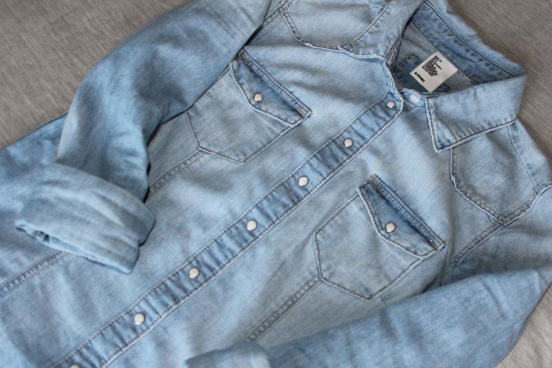 Chambray is a classic element to add to your closet.