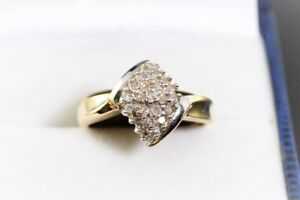NEW SOLID STAMPED 10K. GOLD & 0.39 CARAT LADY'S RING FOR SALE