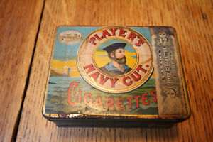 VINTAGE PLAYERS NAVY CUT CIGARETTE TOBACCO TIN