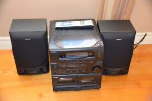 Sony CD player and Speakers