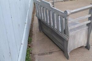 Large solid wood storage bench Strathcona County Edmonton Area image 8