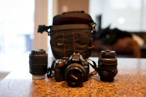 Nikon D5200 w/ Kit Lens 18-55mm 3.5-5.6G, and 50mm 1.8G