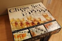 Glass Shot Glass Chess Set- All parts included