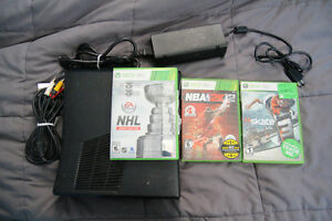 Xbox 360 with 3 games Kingston Kingston Area image 1