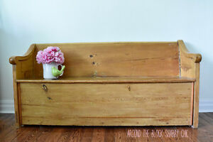Antique church pew/farm bench