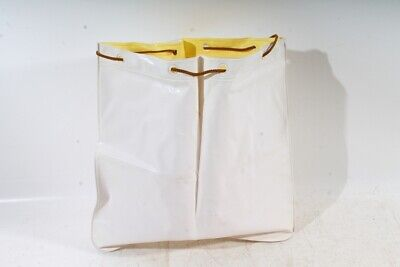 Small Alter Sack Bag Decor Old Vintage White inside Yellow Retro