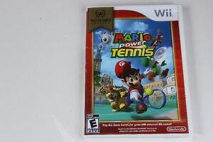 WII GAME new play control  MARIO POWER TENNIS    NEW
