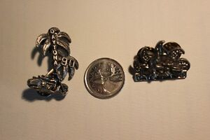 2 DAYTONA 1990 Pewter Vest / Hat Pins (VIEW OTHER ADS)